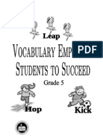Grade 5 Vocab Words Definitions