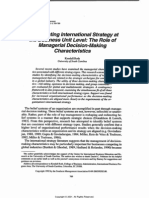 The Role of Managerial Decision-making Characteristics