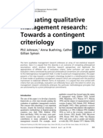 Evaluating Qualitative Management Research - Johnson Et Al. - 2006