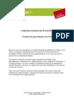 Pacte Gouvernance CUS