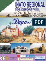 Revista Campeonato Regional Colombicultura Daya Nueva 2014