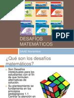 Planeación de desafíos Matemáticos zona 15