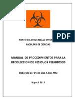 Manual de Procedimiento Para La Recoleccion de Residu1