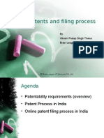 Laws of Patent and Filing process