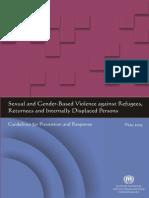 Sexual and Gender Based Violence Against Refugees