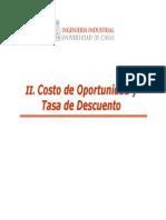 Costo de Oportunidad y Tasa de Descuento
