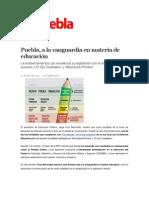 09-04-2014 Sexenio Puebla - Puebla, a la vanguardia en materia de educación.