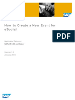 How to Create a New Event for E-Social_v1.2
