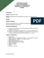 Informe Del Ensayo Del Cono de Arena Densidad en Campo