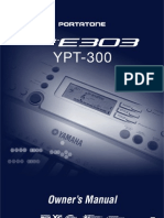 4D - Portatone PSR E-303, YPT-300. Owner's Manual. China.2005