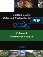 Oakland County Drain Commission, Water and Wastewater Master Plan - Volume 4 - Alternatives Analysis - September, 2007