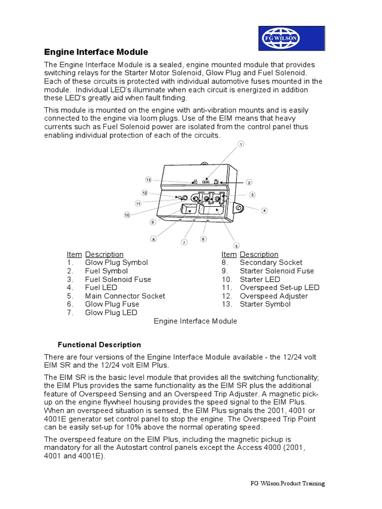 engine interface module rel� fusible (el�ctrico) Allison Transmission Wiring Diagram