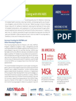 2014 AIDSWatch HIV & Housing Fact Sheet