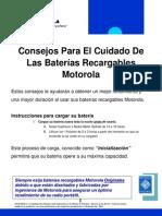 Consejos Para El Cuidado de Las Baterias Recargables Motorola