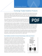 A New Look at Exchange Traded Volatility Products
