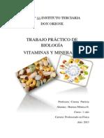 UEP N-Trabajo Minerales y Vitaminas