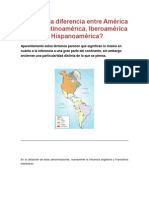 diferencia entre América Latina hispanoamerica y latinoamerica