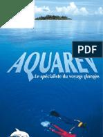brochure Aquarev - Agence spécialisée dans les voyages plongées sous marine