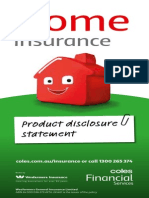Coles Home Insurance PDS