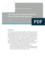 The Emerging Role of Defined Contribution 