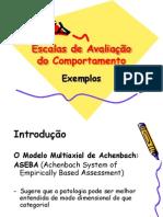 Escalas de Avaliação do Comportamento exemplos