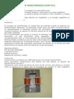 CONSTRUCCIÓN DE UN TRANSFORMADOR DIDÁCTICO