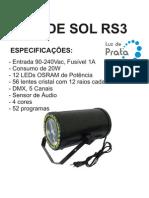 Manual Raio de Sol LP RS3 - Luz de Prata