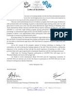 Letter of Invitation to AILT&W 2014