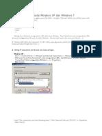 Cara Sharing File Pada Windows XP Dan Windows 7