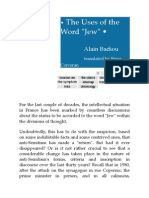 The Word Jew-Badiou