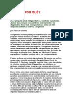 CÂNCER Por quê - Fábio de Oliveira - Medicina + informações complementares
