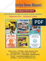 Sewa Bharti Annual Report 2013-14 (English )