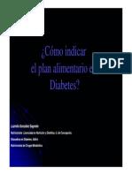 Cómo indicar el plan alimentario en diabetes