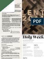 04.13.14 Genesis Bulletin | First Presbyterian Church of Orlando