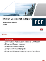 Huawei RAN15 Documentation Improvements