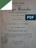 Télin Robert - Magia Sexualis - P.B Randolph - traduction de Maria de Naglowska (1931)