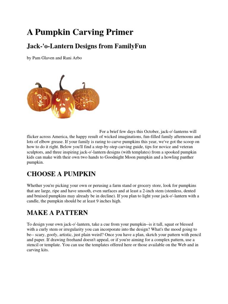 Pumpkin carving and stencils knife pumpkin