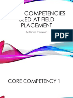 core competencies used at field placement