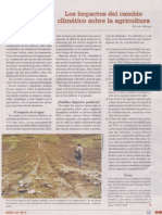 Los impactos del cambio climático sobre la agricultura - revista agraria abril 2013