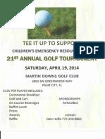 Children's Emergency Resources Golf Tournament 2014