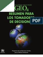 GEO4 - Perspectivas del Medio Ambiente Mundial