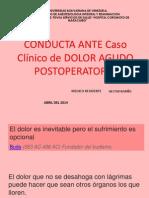 DOLOR POSTOPERATORIO CASOS CLINICOS DR NARIÑO