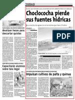 Choclococha pierde sus fuentes hídricas - Impulsan cultivos de palta y quinua en Huaytará-Diario Correo Huncavelica 05-11-2013