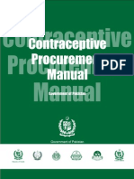 Pakistan Conraceptive Procurement Manual by Usaid Delivered Projects