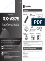 Yamaha RX-V375 AVR Owners Manual