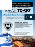 Pesach to Go - 5774