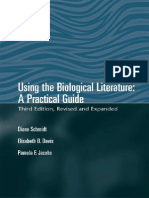 Using the Biological Literature - A Practical - Elisabeth B Davis & Diane E Schmidt