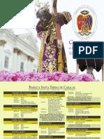 Programa de Semana Santa 2014 - Basilica Santa Teresa - Venezuela