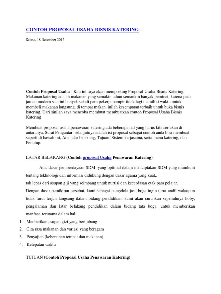 Contoh Proposal Penawaran Produk Pdf Free Ebsoup
