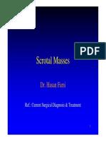 Scrotal Masses Dr. Hasan